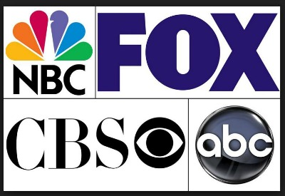 Four Major TV Networks large