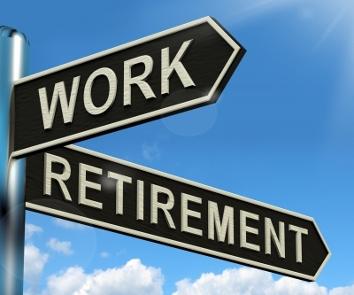 Work or Retire signs